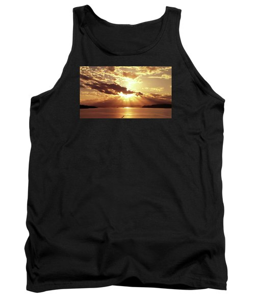 Hood Canal Sunset Tank Top by Eddie Eastwood