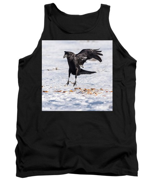 Hopping Mad Raven In The Snow Tank Top