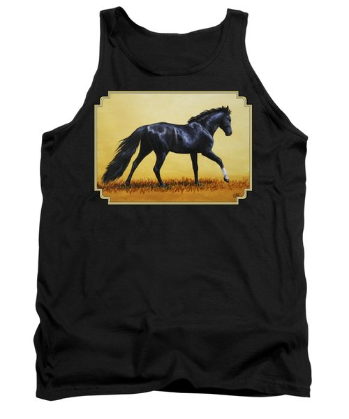 Horse Painting - Black Beauty Tank Top by Crista Forest