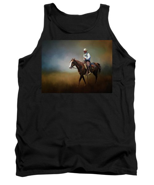 Tank Top featuring the photograph Horse Ride At The End Of Day by David and Carol Kelly