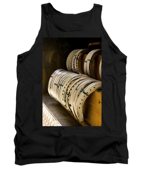 Horse Shoes Tank Top by Angela Rath