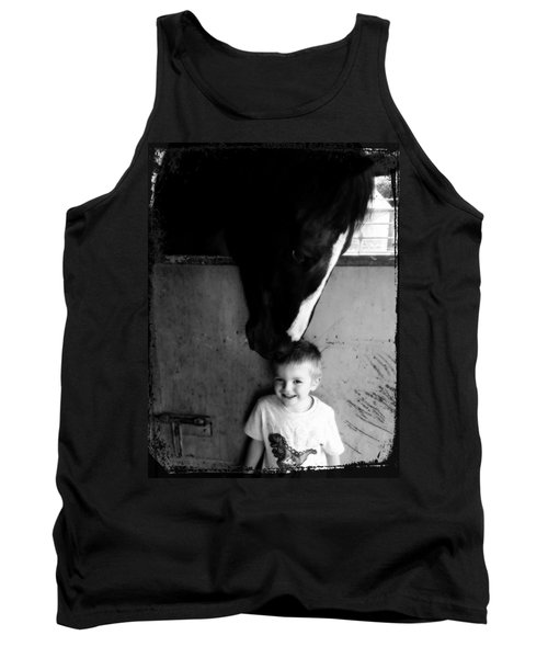 Tank Top featuring the photograph Horses Love by Amanda Eberly-Kudamik