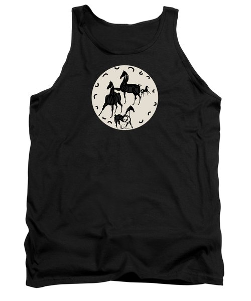 Horses Red Plate Tank Top by Mary Armstrong