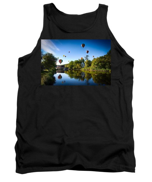 Hot Air Balloons In Queechee 2015 Tank Top by Jeff Folger