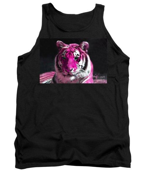 Hot Pink Tiger Tank Top