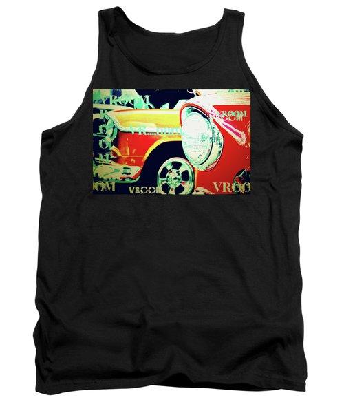 Hot Rods Go Vroom Vroom Tank Top by Toni Hopper