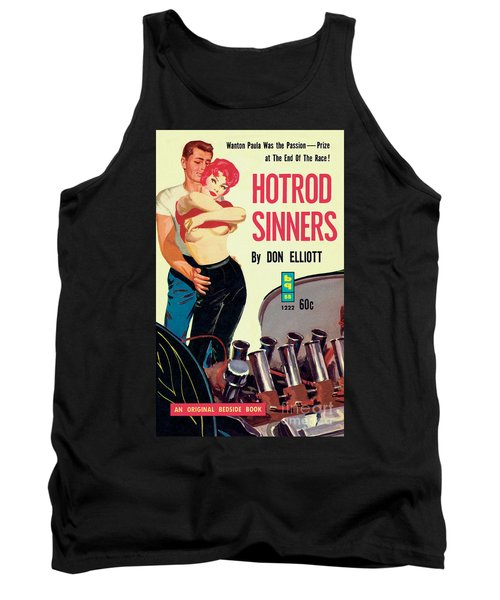 Tank Top featuring the painting Hotrod Sinners by John Duillo