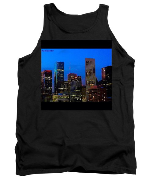 #houston #skyline At #night. #lights Tank Top