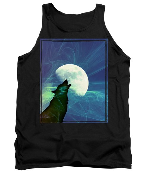 Tank Top featuring the photograph Howling Moon by Amanda Eberly-Kudamik