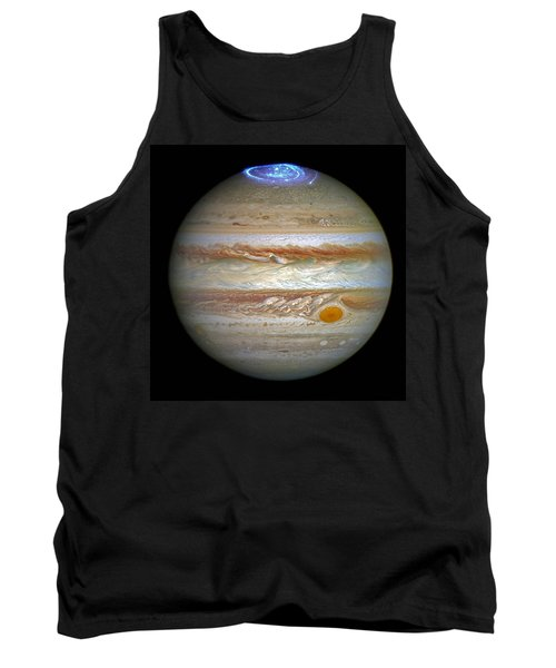 Tank Top featuring the photograph Hubble Captures Vivid Auroras In Jupiter's Atmosphere by Nasa