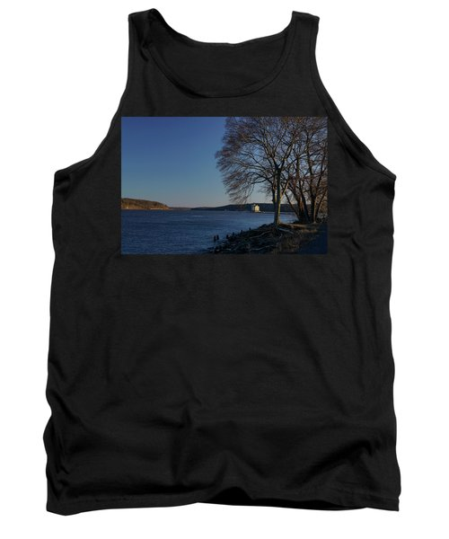 Hudson River With Lighthouse Tank Top