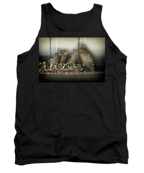 Tank Top featuring the photograph Hungry Chicks by Alan Toepfer