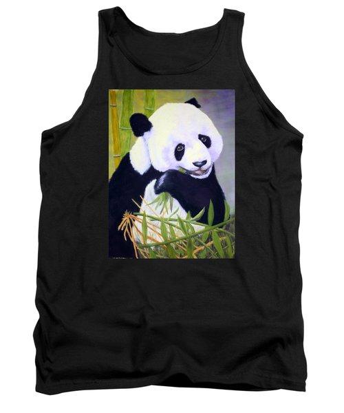 Hungry Panda Tank Top by Nancy Jolley