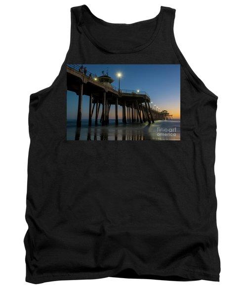 Huntington Beach Pier At Dusk Tank Top