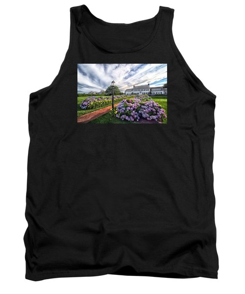 Tank Top featuring the photograph Hydrangea Walk House by Constantine Gregory