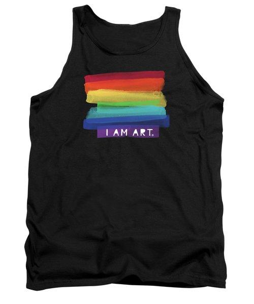 I Am Art Rainbow Stripe- Art By Linda Woods Tank Top