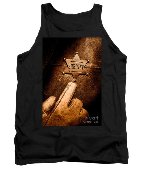 I Am The Law - Sepia Tank Top