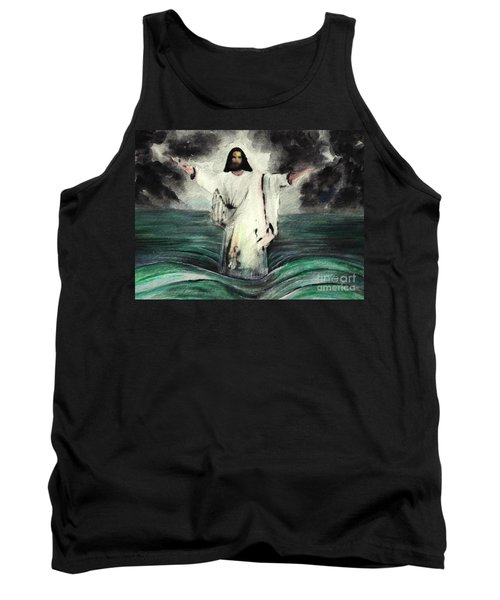 I Am Will Calm Your Sea Tank Top by Hazel Holland