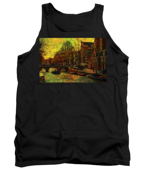 I Amsterdam. Vintage Amsterdam In Golden Light Tank Top