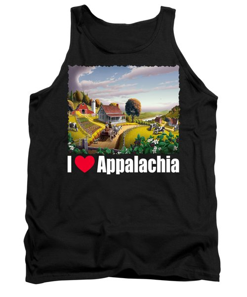 I Love Appalachia T Shirt - Appalachian Blackberry Patch Tank Top