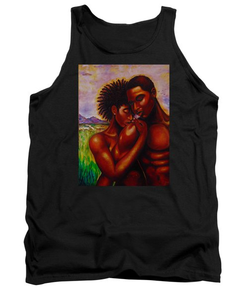 Tank Top featuring the painting I Love You by Emery Franklin