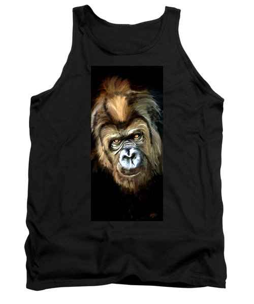 Tank Top featuring the painting Gorilla Portrait by James Shepherd
