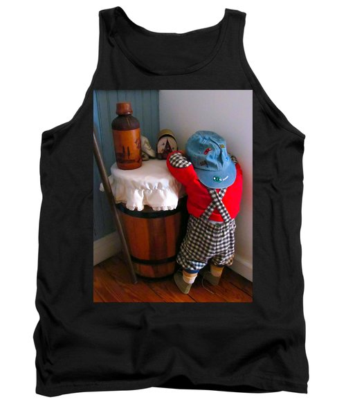Tank Top featuring the painting I Shouldn't Have Done It by Lanjee Chee