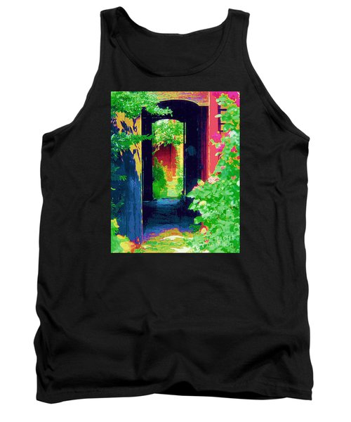 I Stand At The Door And Knock Tank Top by Diane E Berry