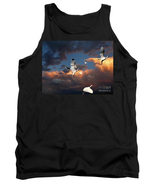 Tank Top featuring the photograph Ibis In Flight by Irma BACKELANT GALLERIES