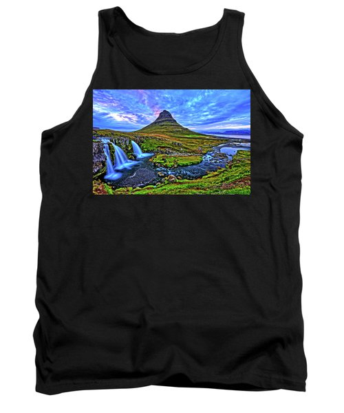 Tank Top featuring the photograph Ice Falls by Scott Mahon