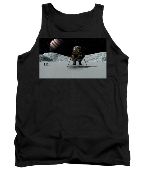 Tank Top featuring the digital art Icefield Landing by David Robinson