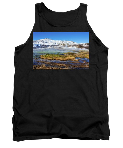 Iceland Landscape Geothermal Area Haukadalur Tank Top by Matthias Hauser