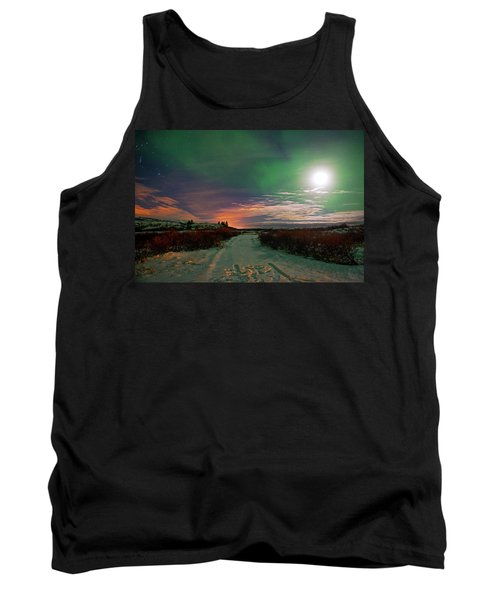Tank Top featuring the photograph Iceland's Landscape At Night by Dubi Roman