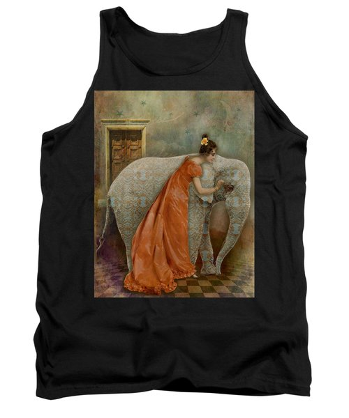 Tank Top featuring the digital art If Elephants Were Painted by Lisa Noneman