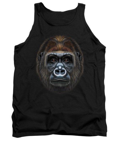 Illustrated Portrait Of Gorilla Male. Tank Top