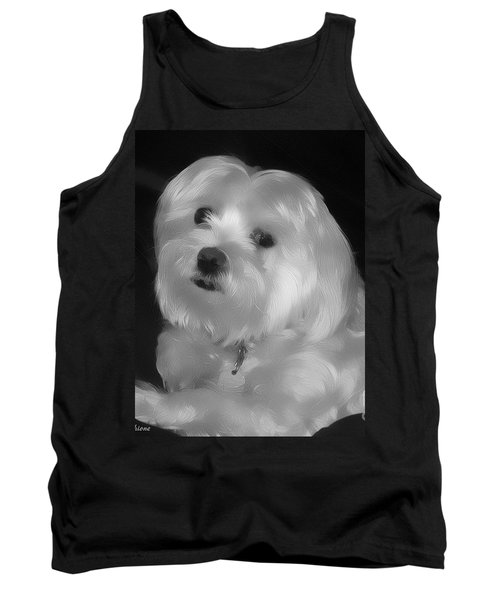 Tank Top featuring the digital art I'm The One For You by Kathy Tarochione
