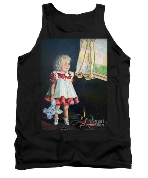 Tank Top featuring the mixed media Ingenuous   Imagination Girl.                From The Attitude Girls  by Sigrid Tune