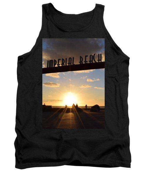 Imperial Beach At Sunset Tank Top by Karen J Shine