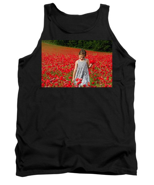 In A Sea Of Poppies Tank Top