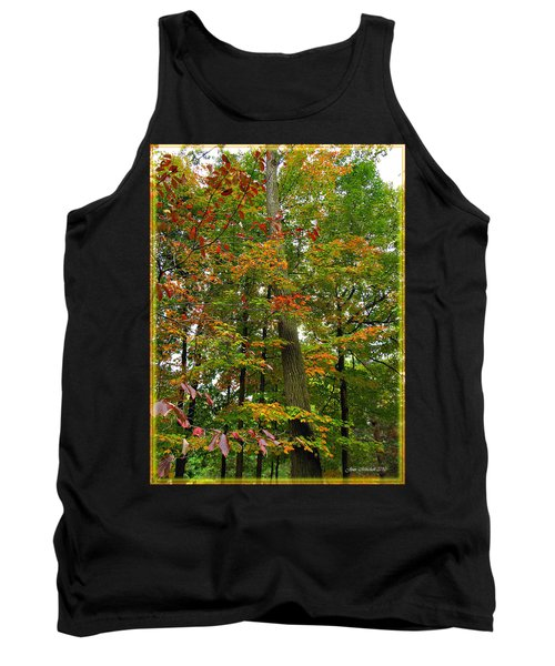 Tank Top featuring the photograph In The Height Of Autumn by Joan  Minchak