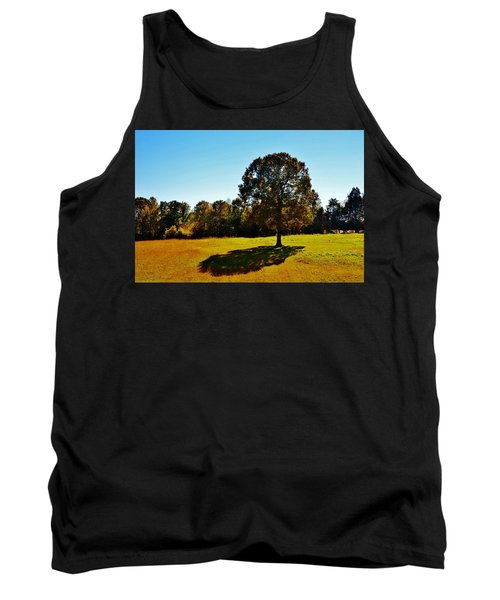 In The Shadow Of A Tree Tank Top