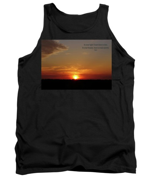 Tank Top featuring the photograph In Your Light by Rhonda McDougall