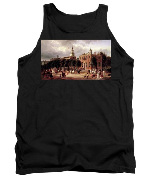 Tank Top featuring the painting Independence Hall by Ferdinand Richardt