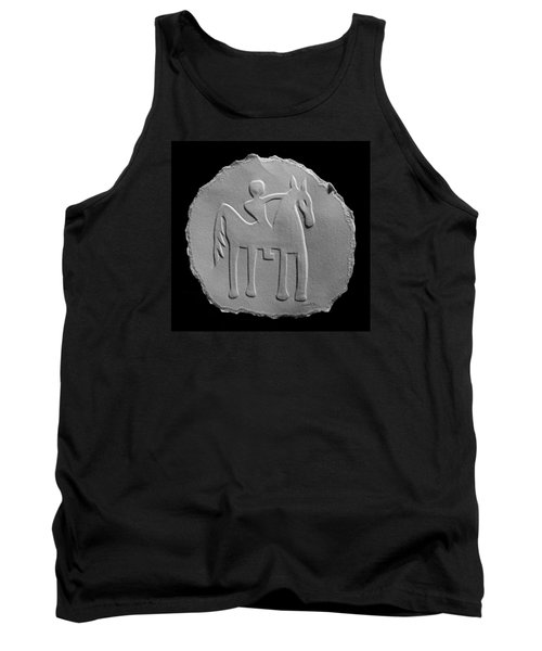 Tank Top featuring the relief Indian Art - Horse Rider by Suhas Tavkar