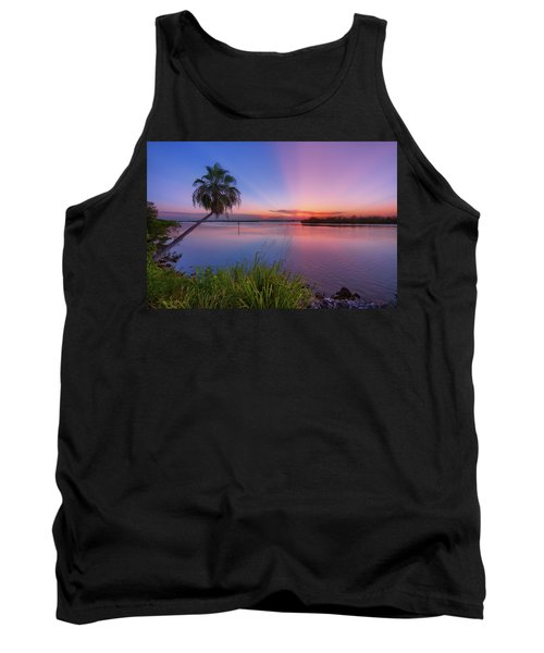 Tank Top featuring the photograph Indian River State Park Bursting Sunset by Justin Kelefas
