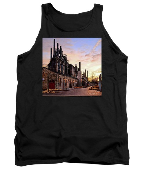 Tank Top featuring the photograph Industrial Landmark by DJ Florek