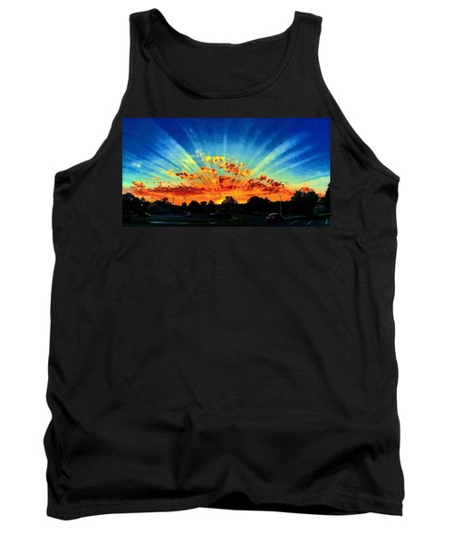 Infinite Rays From An Otherworldly Sunset Tank Top
