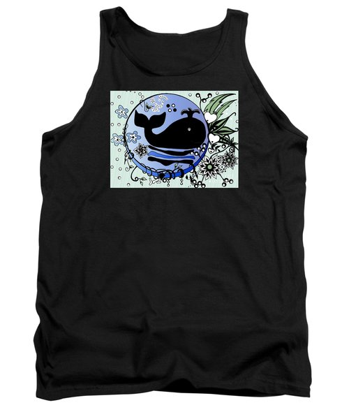 Ink And Pen Whale Drawing Tank Top by Saribelle Rodriguez