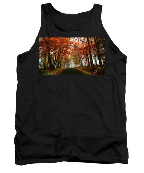 Inner Line Road At Valley Forge Tank Top