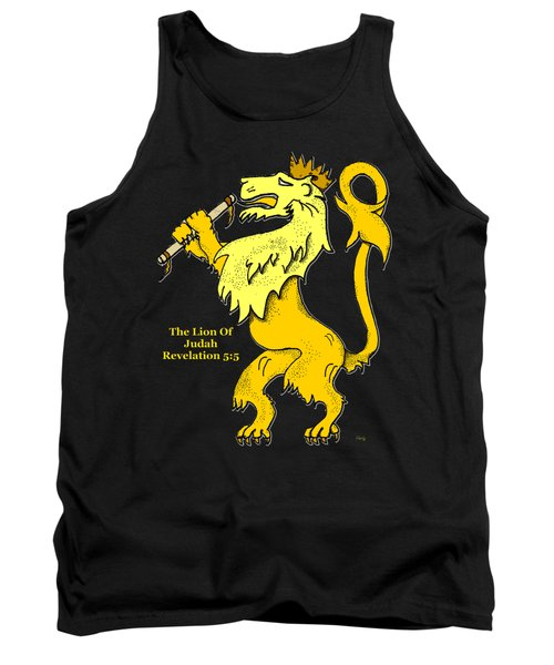 Tank Top featuring the drawing Inspirational - The Lion Of Judah by Glenn McCarthy Art and Photography